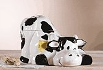 Porcelain Cow Cookie Jar