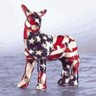 Mini American Flag Patchwork Donkey