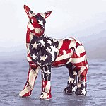 Mini American Flag Patchwork Donkey