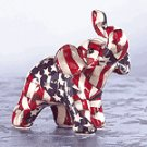 Mini American Flag Patchwork Elephant