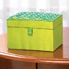 Fabric Embroiderd Jewelry Box