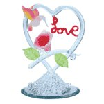 "Spun Glass Hummingbird ""Love"""