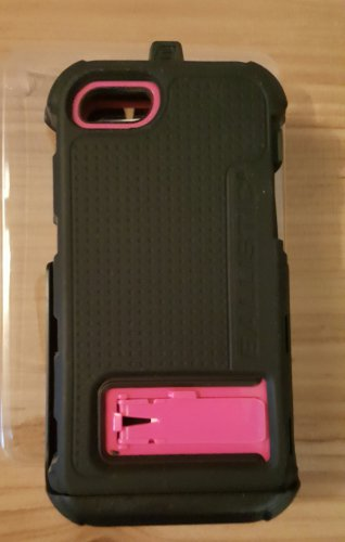 Ballistic HC Rugged Hard Core Case Holster Clip For iPhone 5 5S SE - Black/Pink