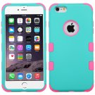 MYBAT Rubberized Teal Green/Electric Pink TUFF Hybrid Phone Protector Cover