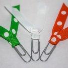 White Paper Clip Bookmarks