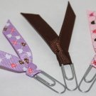 Heart Paper Clip Bookmarks