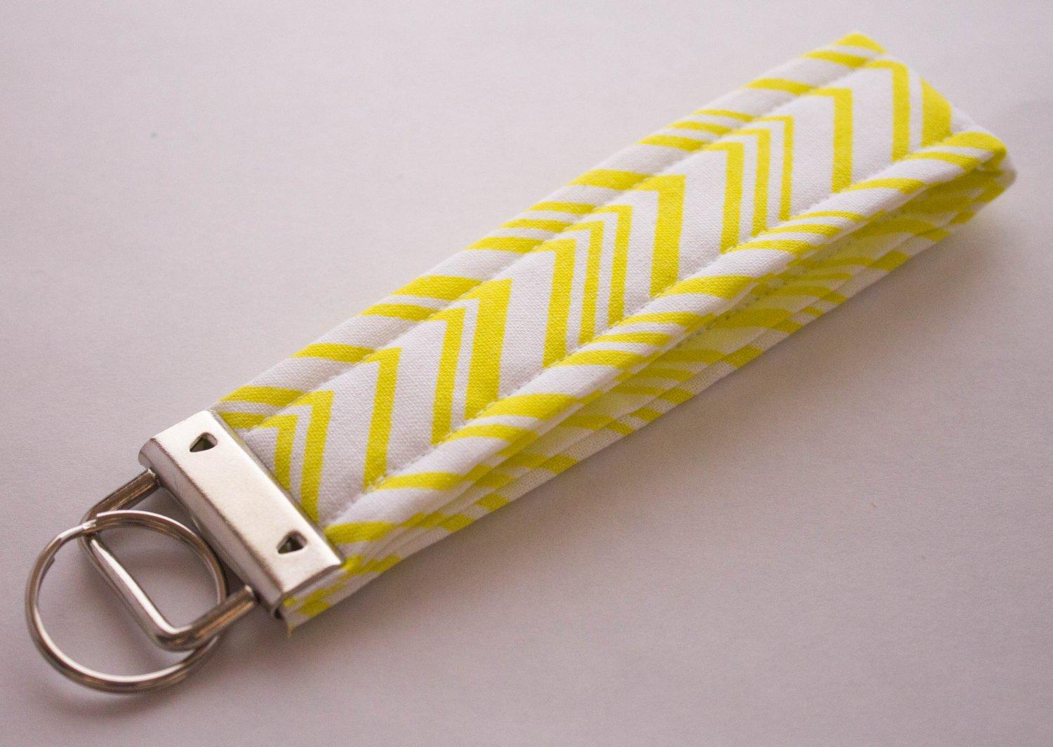 Yellow Stripe Key Fob Wristlet