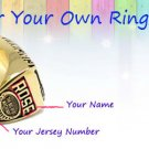 Custom: Championship Ring Customization--name and jersey number custom service