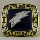 1994 San Diego Chargers AFC American Football Championship Rings Ring