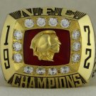 1972 Washington Redskins NFC National Football Conference Championship Rings Ring