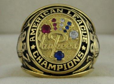 1957 New York Yankees AL American League World Series Championship Rings Ring