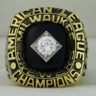 1982 Milwaukee Brewers AL American League World Series Championship Rings Ring