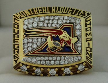 2002 Montreal Alouettes Grey Cup  Championship Rings Ring