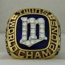 1987 Minnesota Twins World Series Championship Rings Ring