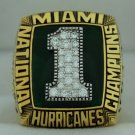 1989 Miami Hurricanes NCAA National Championship Rings Ring