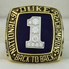 1992 Duke Blue Devils NCAA Basketball  National Championship Rings Ring