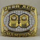 2008 Virginia Tech Hokies Football ACC National Championship Rings Ring