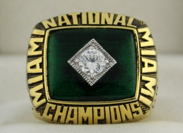 1987 Miami Hurricanes NCAA National Championship Rings Ring