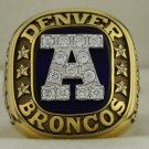 1986 Denver Broncos  AFC American Football Conference Championship Rings Ring