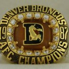 1987 Denver Broncos AFC American Football Conference Championship Rings Ring