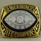 1989 Denver Broncos AFC American Football Conference Championship Rings Ring