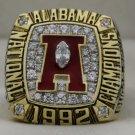 1992 Alabama Crimson Tide NCAA National Championship Rings Ring