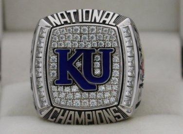 2008 KU Kansas Jayhawks Basketball  National Championship Rings Ring