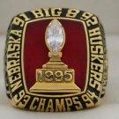 1995 Nebraska Cornhuskers NCAA Big 8 National Championship Rings Ring