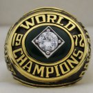 1972 Oakland Athletics World Series Championship Rings Ring