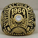 1964 Alabama Crimson Tide National Championship Rings Ring