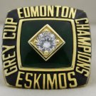 1982 Edmonton Eskimos The 70th Grey Cup Championship Rings Ring