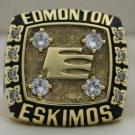 1981 Edmonton Eskimos The 69th Grey Cup Championship Rings Ring
