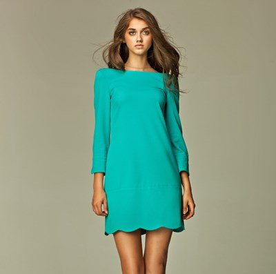 Classic and Iconic Style 1960's Turquoise Ladies Dress SIZE UK 16