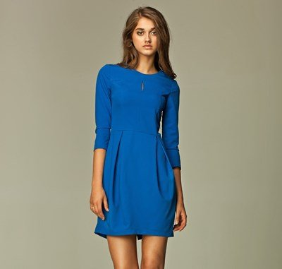 Classic and Iconic Style Blue Ladies Tulip Dress SIZE UK 14
