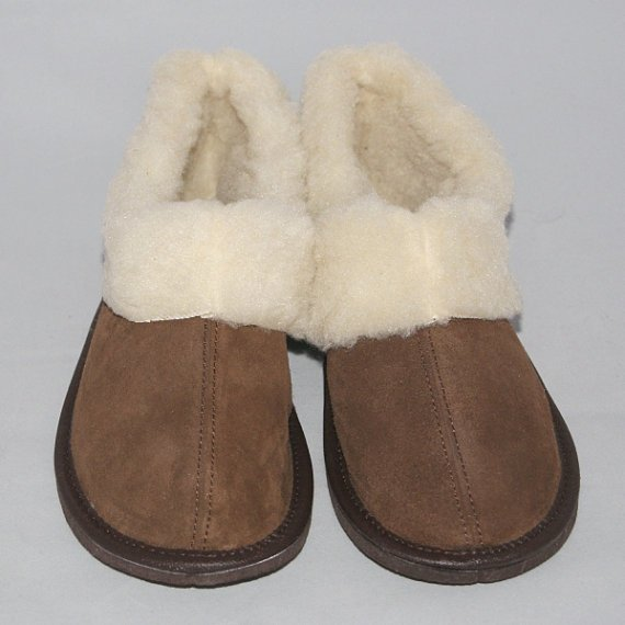 Women's Suede Leather Sheep's Wool Slippers SIZE UK 6