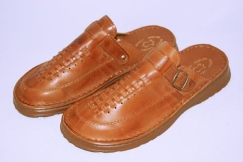 Men's Leather Slippers-Mules/House Shoes UK 10