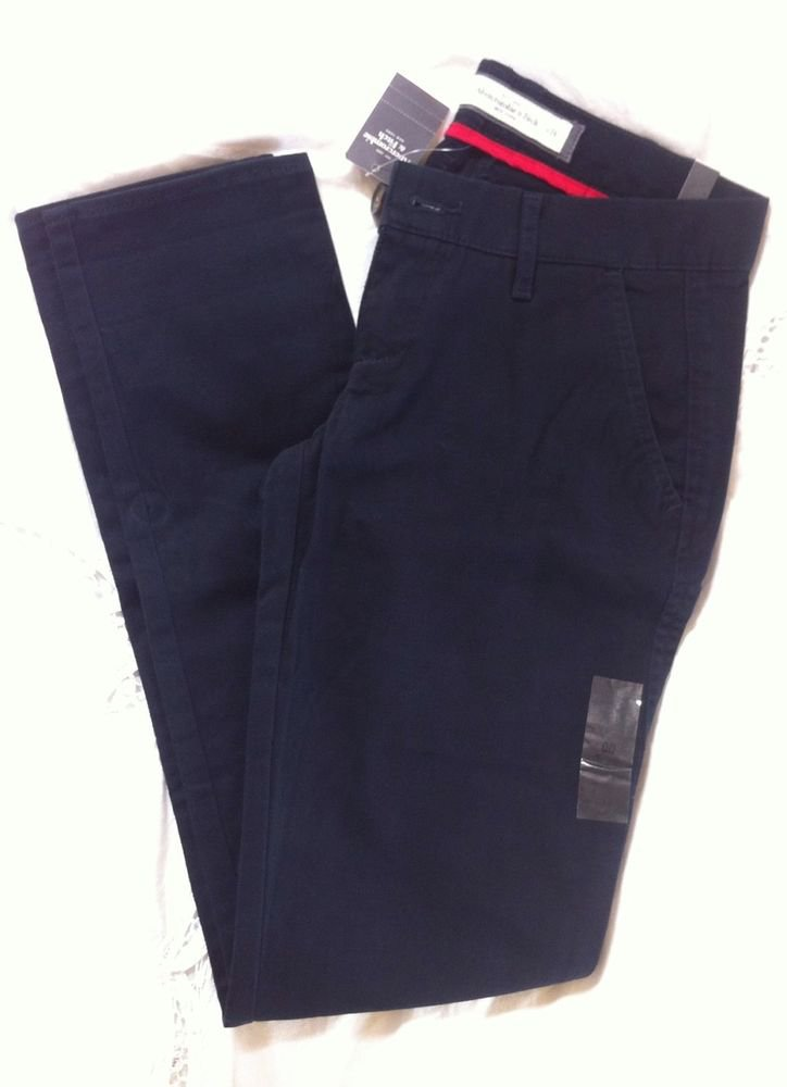 Abercrombie & Fitch Navy Blue Skinny Pants Chinos Woven 00 24