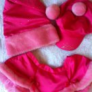 Victoria's Secret 3PC Set Hats Skirt OS S M L Swarovski Bling Sexy Little Things