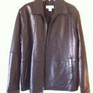 Calvin Klein 100% Genuine Leather Zip Coat Black Jacket M