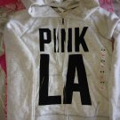 Victoria's Secret Pink LA Graphic Logo Zip Hoodie M