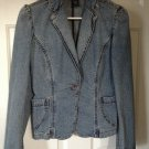Express Jeans Stretch 3 / 4 Denim Jean Jacket Stone Wash