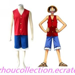 One Piece Luffy Cosplay Costume(FREE SHIPPING)