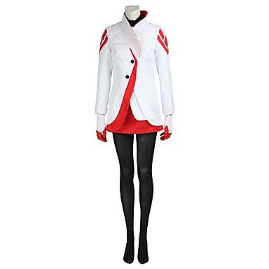 Cosplay Costume Tops Bottoms Solid White Coat Top Gloves Stockings