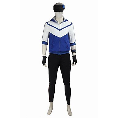 Cosplay Halloween Suits Cosplay Tops Bottoms Patchwork White Black YellowCoat Leotard Cap