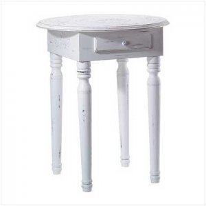 Carved Top Accent Table