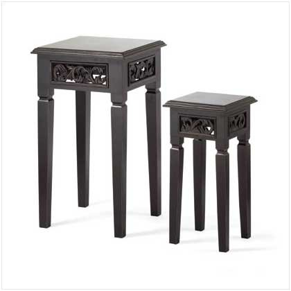 Distress Black Nesting Tables