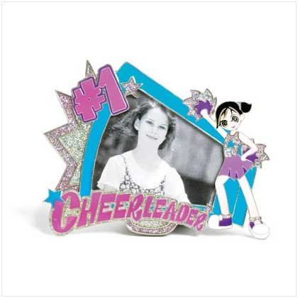 """#1 Cheerleader"" Pewter Frame"