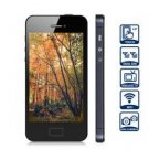 Free shipping Unlocked Dual SIM Cell Phone With Quad Band 4.0 inch HVGA Touch Screen WiFi