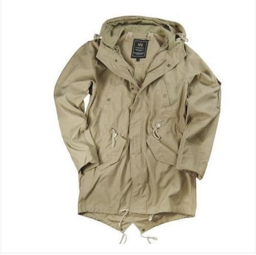 "Alpha Indurtries -Duster Field Coat  Khaki Size ""M"""