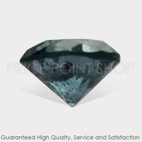 0.10 ctw, 2.72 mm Size, Turquoise Blue, I3 Clarity, Round Cut Loose Real Diamonds